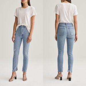 AGOLDE Nico Headlines Raw Hem Distressed Jeans
